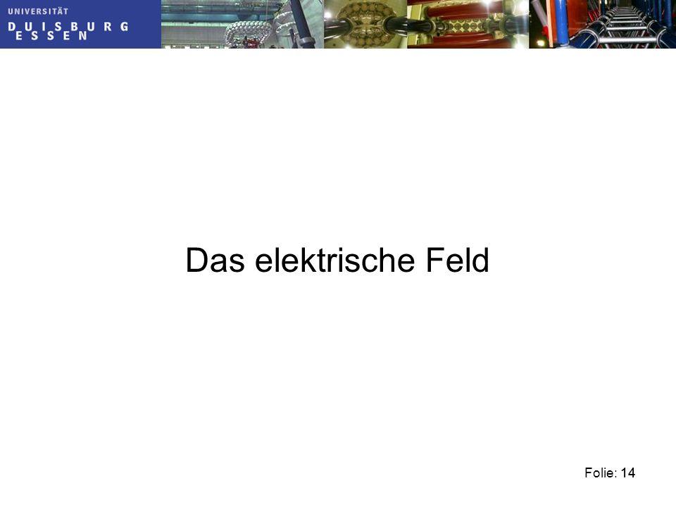 Das elektrische Feld 14
