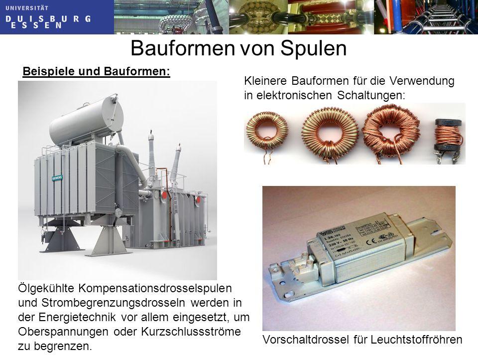 Bauformen von Spulen Beispiele und Bauformen: