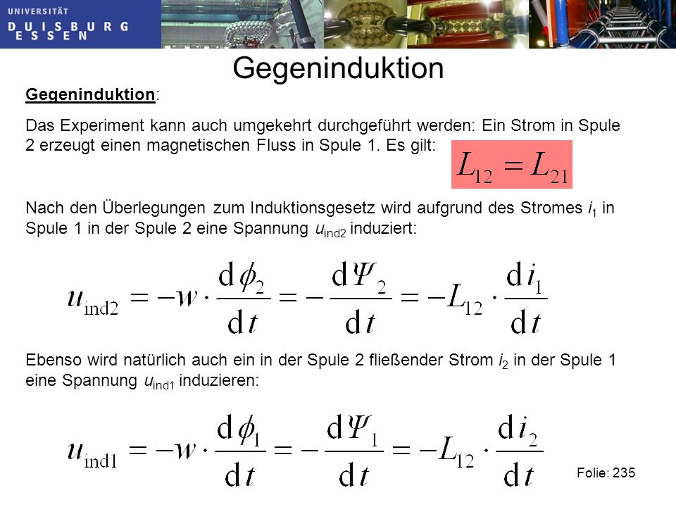 Gegeninduktion Gegeninduktion:
