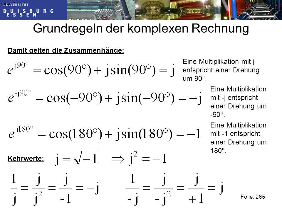Grundregeln der komplexen Rechnung