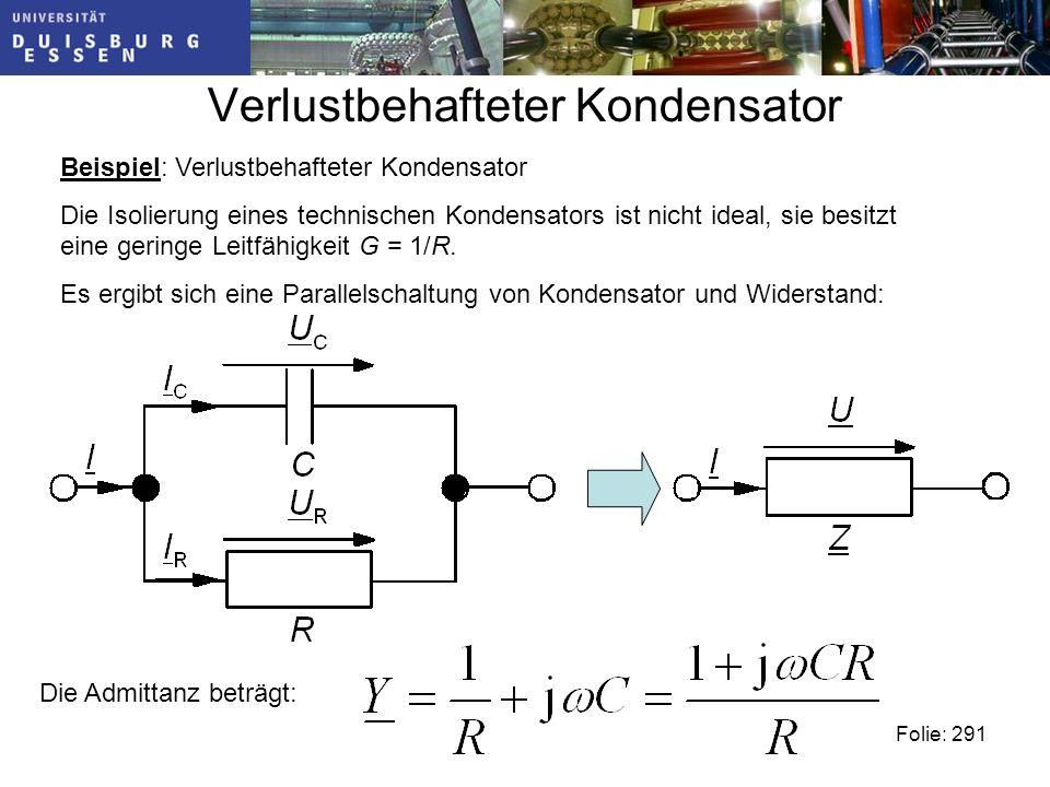 Verlustbehafteter Kondensator