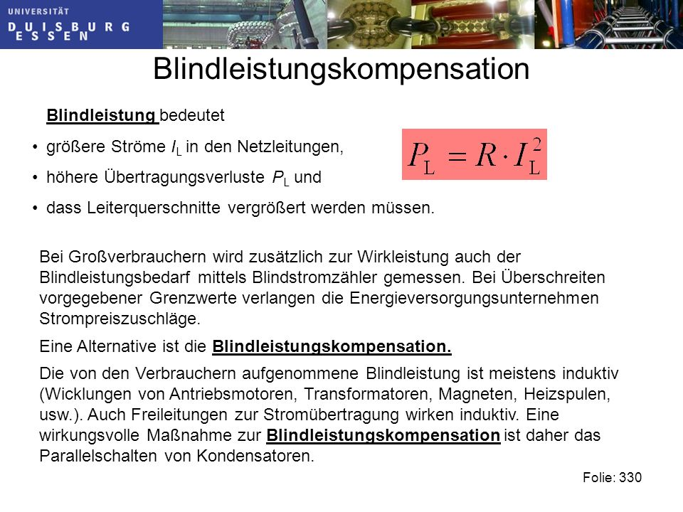 Blindleistungskompensation