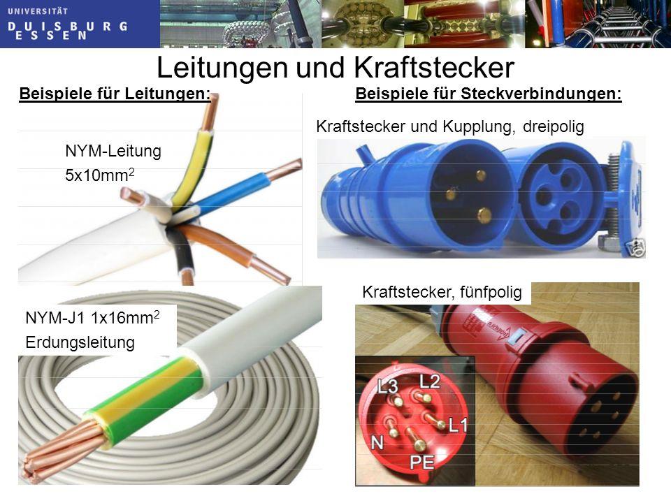Leitungen und Kraftstecker