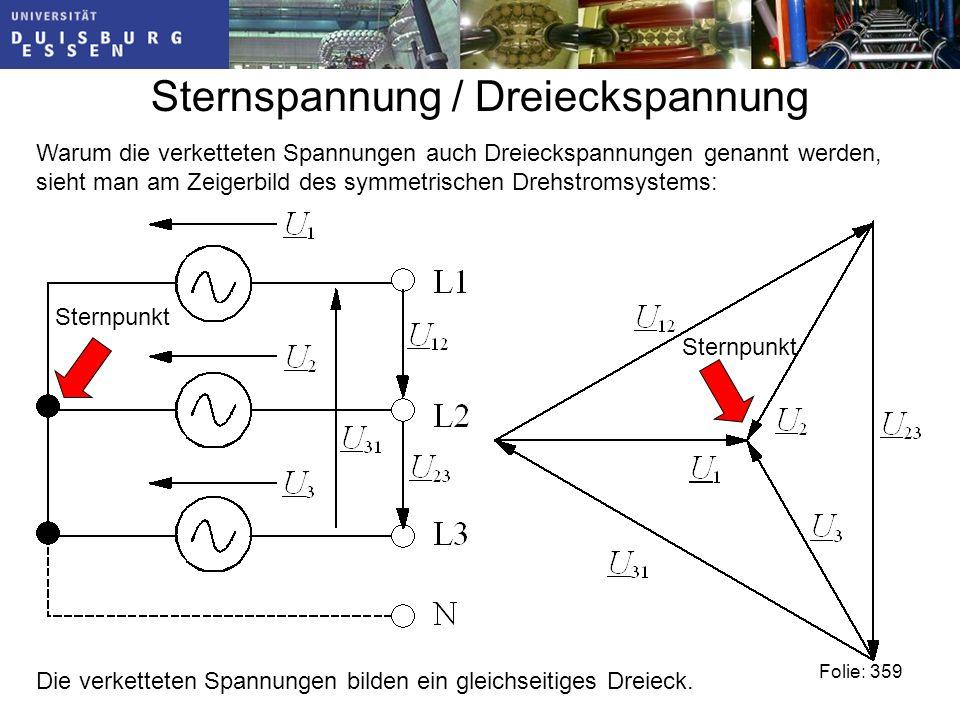 Sternspannung / Dreieckspannung