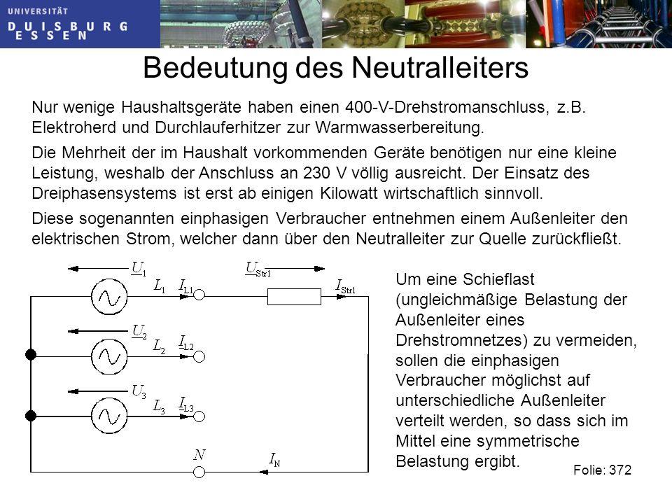 Bedeutung des Neutralleiters