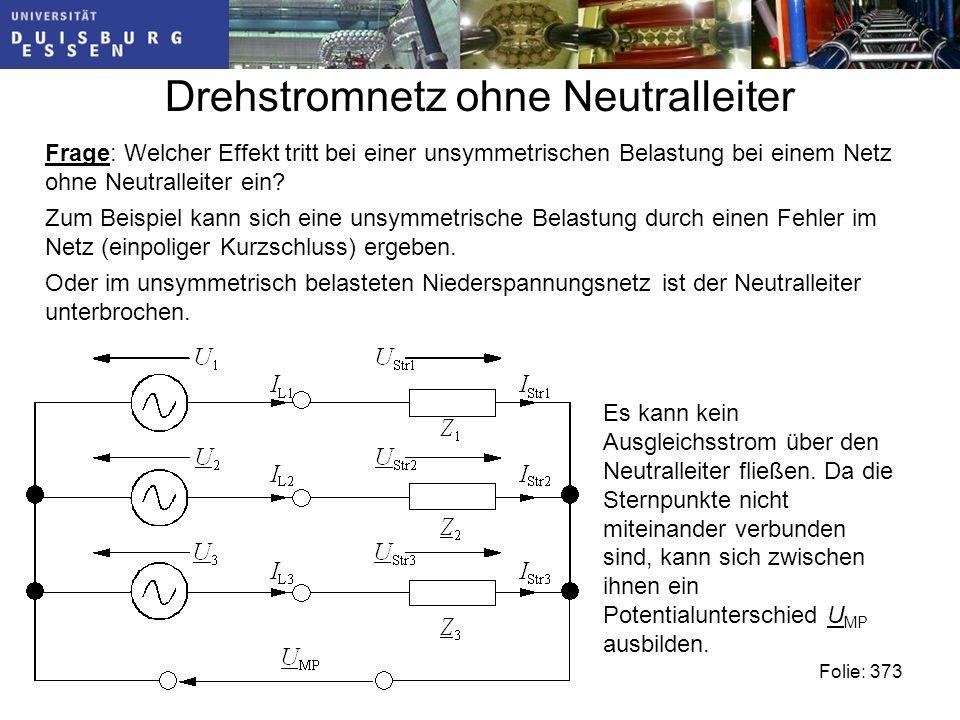 Drehstromnetz ohne Neutralleiter