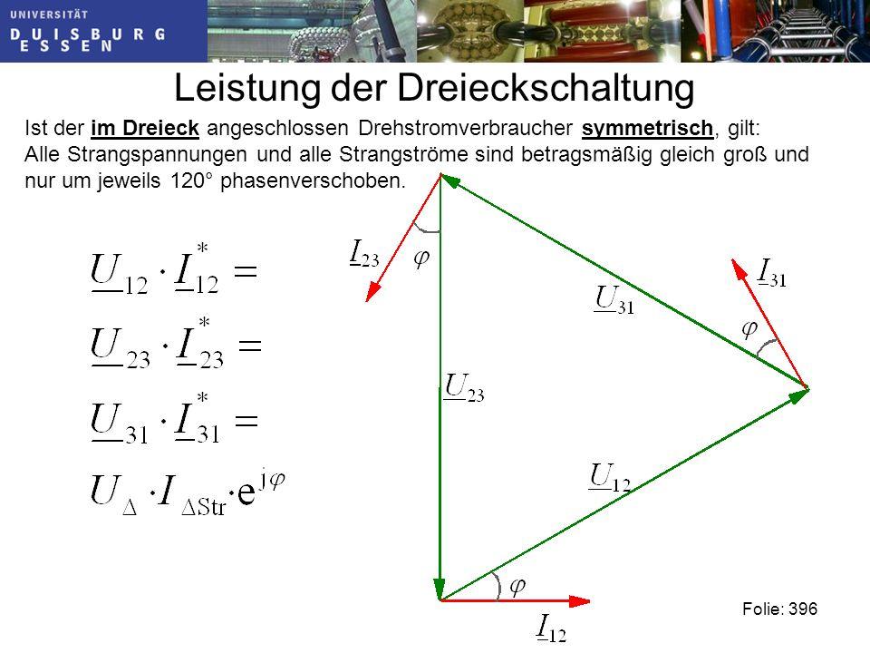 Leistung der Dreieckschaltung