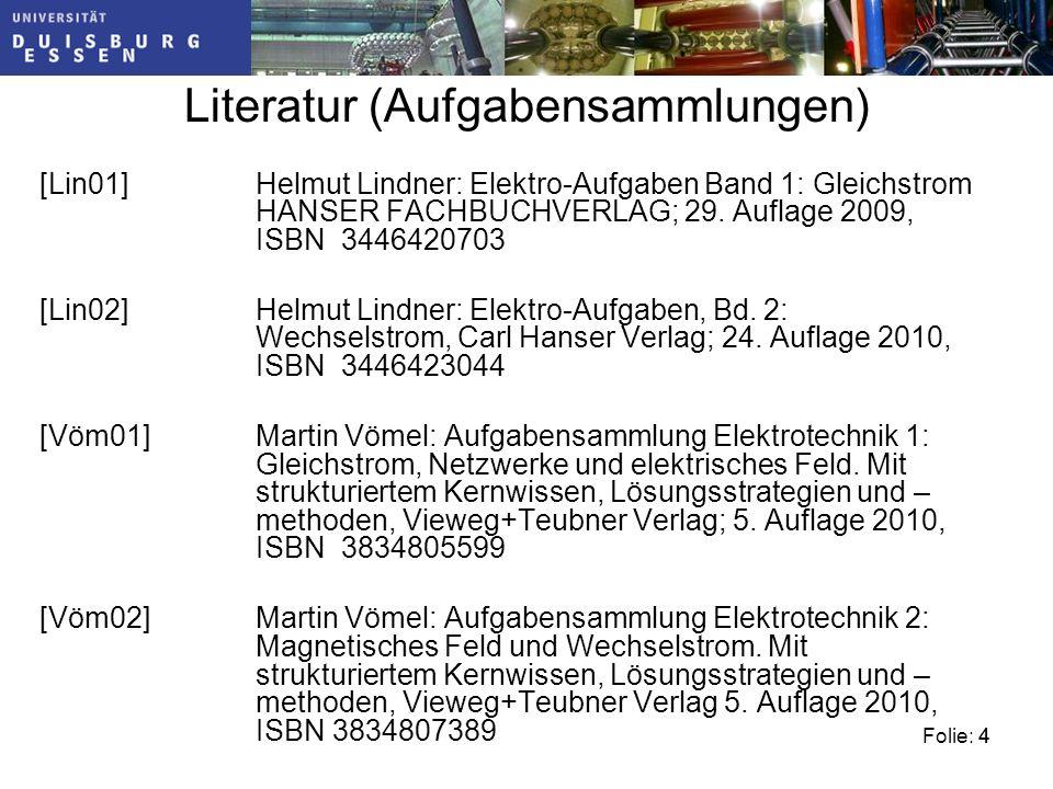 Literatur (Aufgabensammlungen)