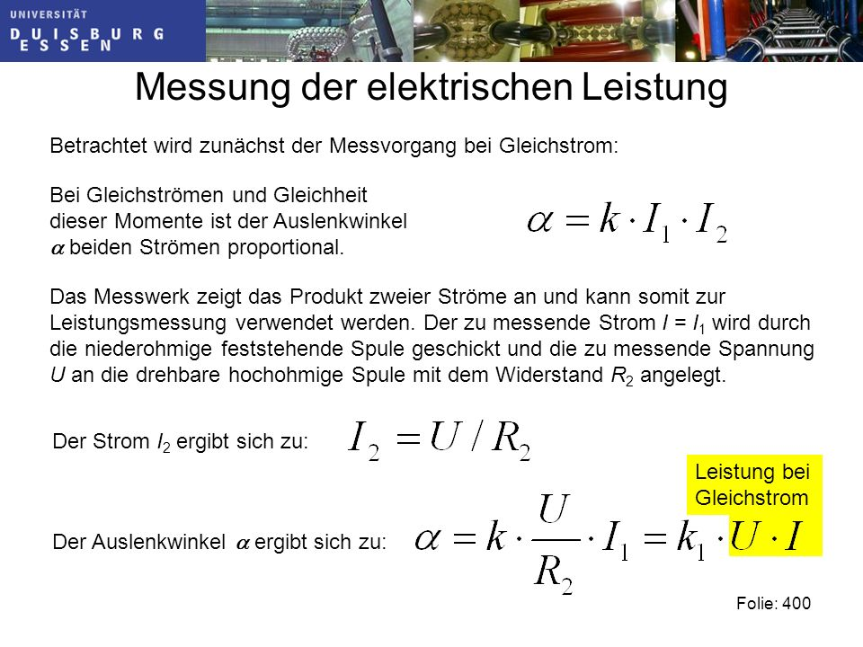 Messung der elektrischen Leistung