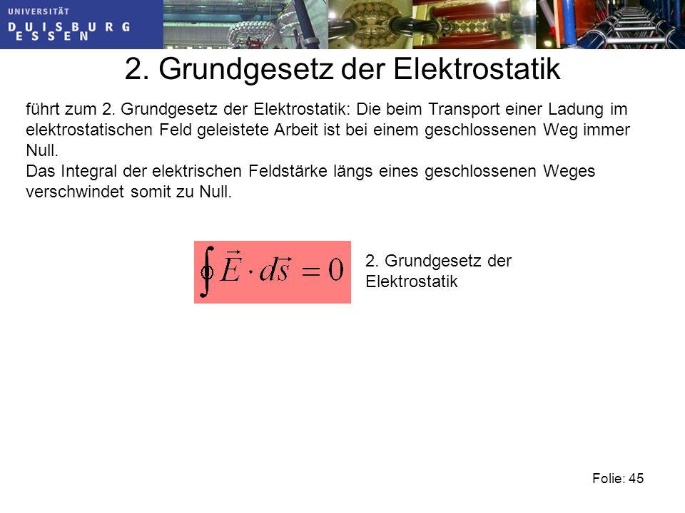 2. Grundgesetz der Elektrostatik