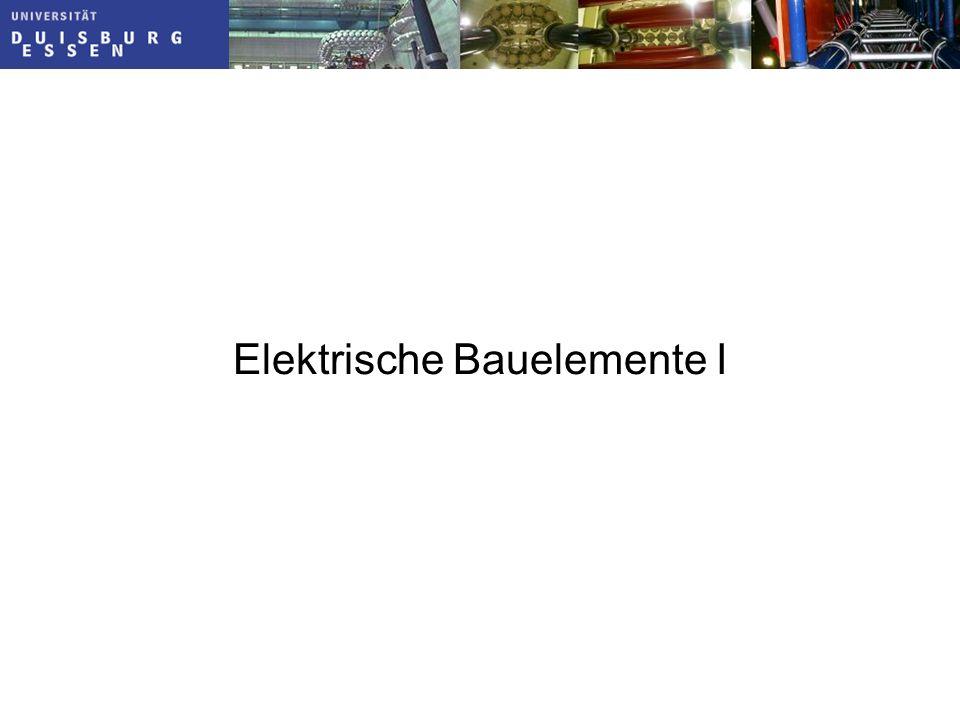 Elektrische Bauelemente I