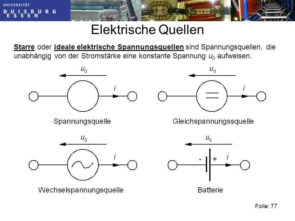 Elektrische Quellen