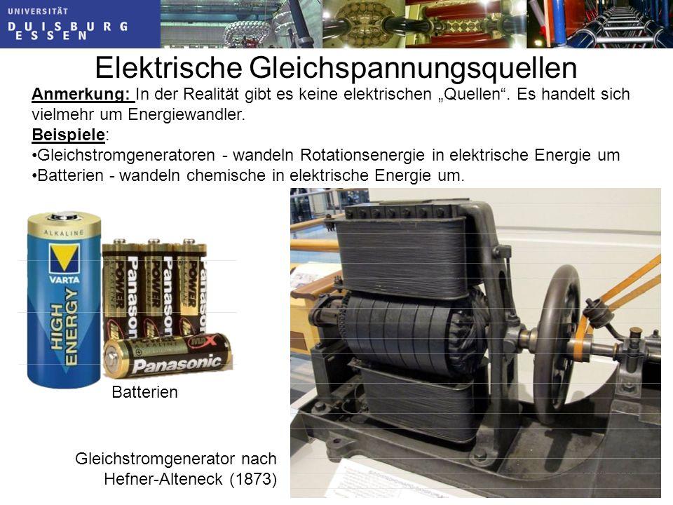 Elektrische Gleichspannungsquellen