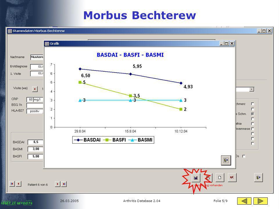 Morbus Bechterew 26.03.2005 Arthritis Database 2.04