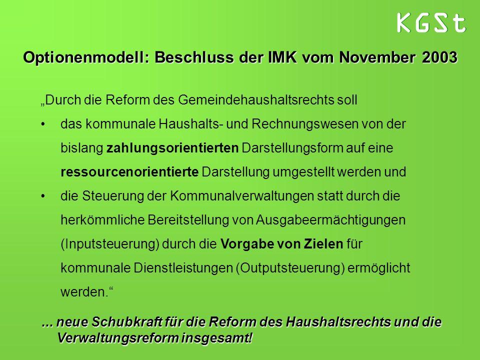 Optionenmodell: Beschluss der IMK vom November 2003
