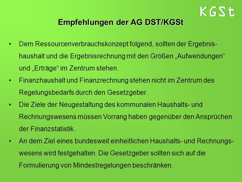 Empfehlungen der AG DST/KGSt