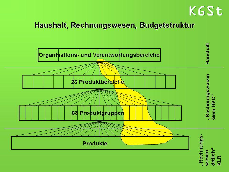 Haushalt, Rechnungswesen, Budgetstruktur