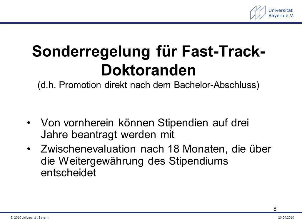 Sonderregelung für Fast-Track- Doktoranden (d. h