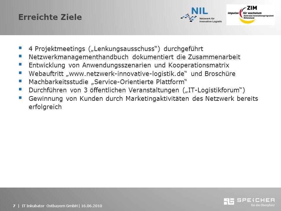 """Erreichte Ziele 4 Projektmeetings (""""Lenkungsausschuss ) durchgeführt"""