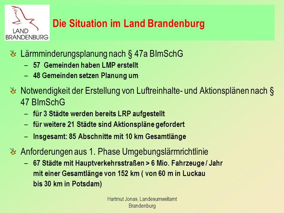 Die Situation im Land Brandenburg