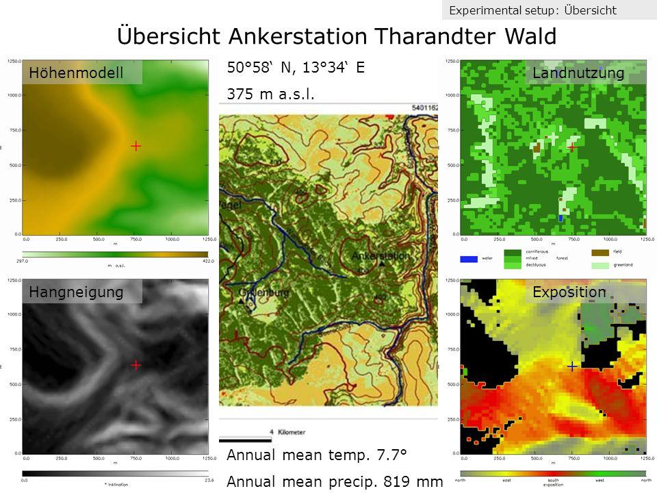 Übersicht Ankerstation Tharandter Wald