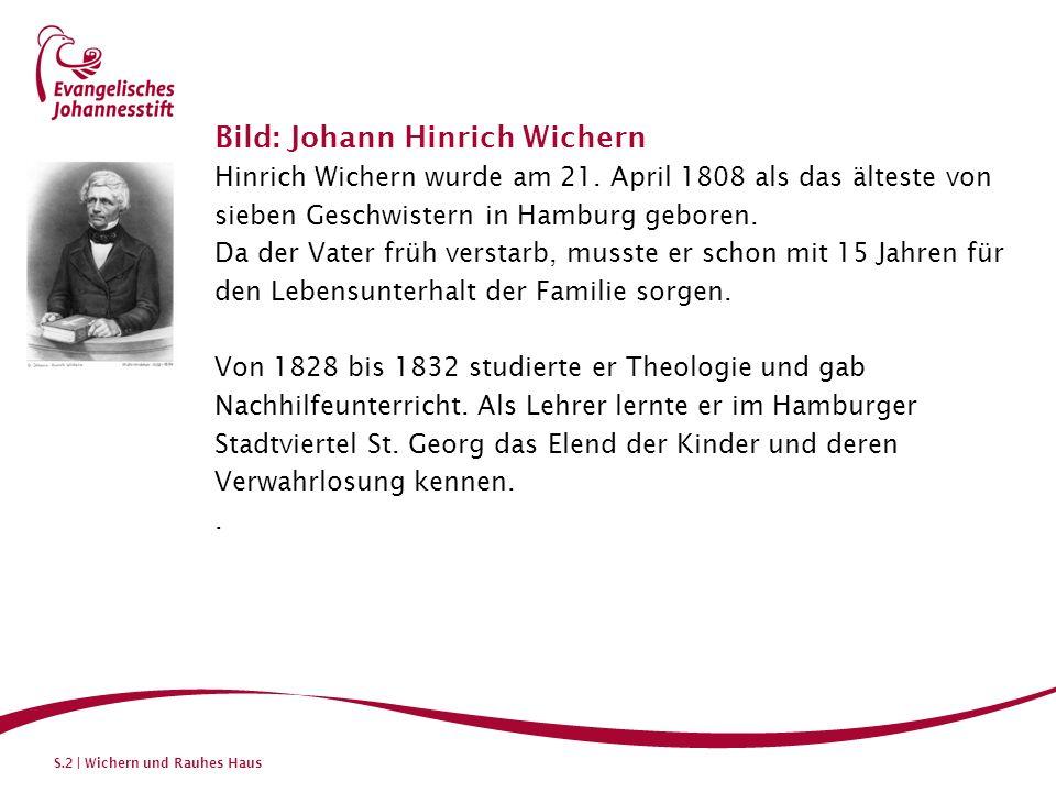 Bild: Johann Hinrich Wichern
