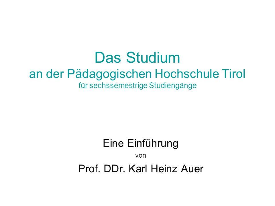 Eine Einführung von Prof. DDr. Karl Heinz Auer
