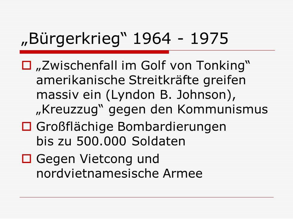 """Bürgerkrieg 1964 - 1975"