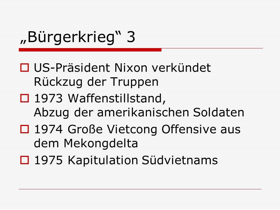 """""""Bürgerkrieg 3 US-Präsident Nixon verkündet Rückzug der Truppen"""