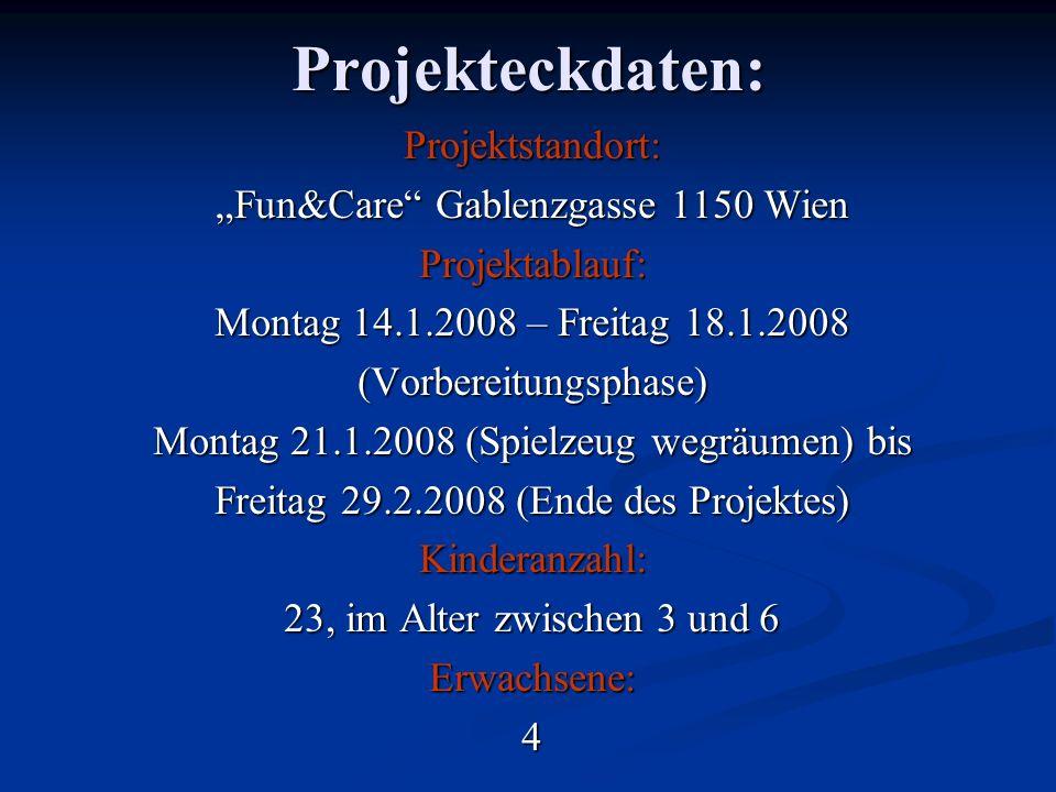 "Projekteckdaten: Projektstandort: ""Fun&Care Gablenzgasse 1150 Wien"