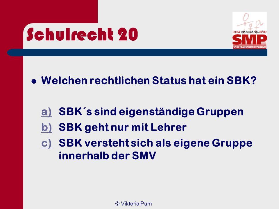 Schulrecht 20 Welchen rechtlichen Status hat ein SBK