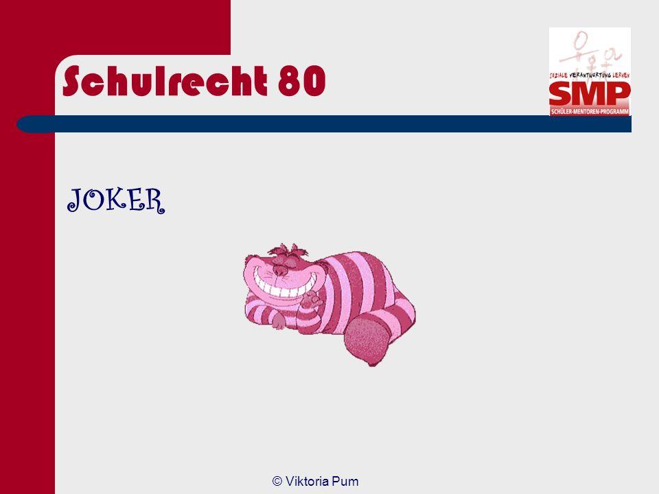Schulrecht 80 JOKER © Viktoria Pum