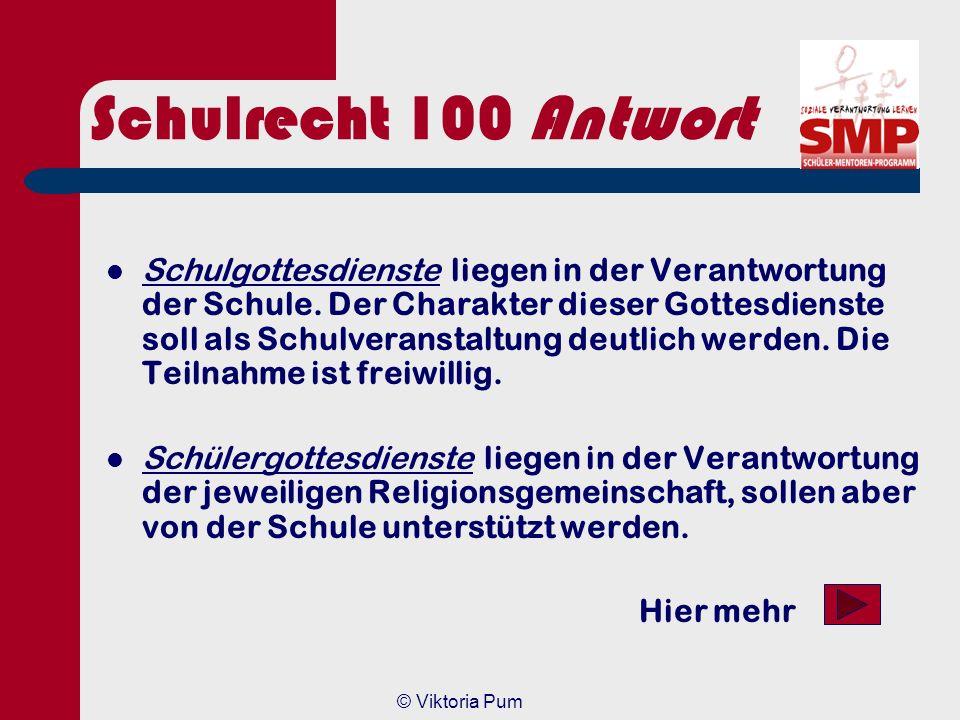 Schulrecht 100 Antwort