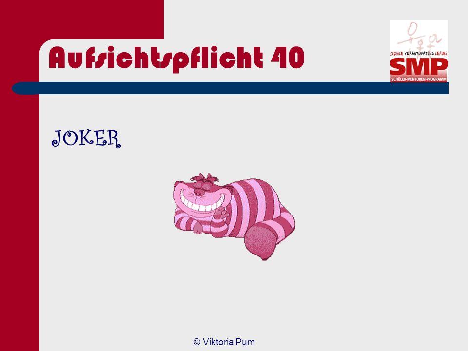 Aufsichtspflicht 40 JOKER © Viktoria Pum