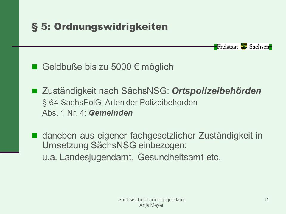 § 5: Ordnungswidrigkeiten