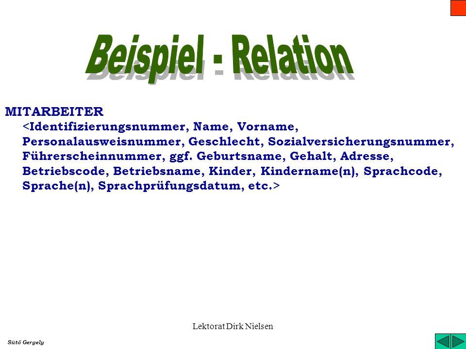 Beispiel - Relation