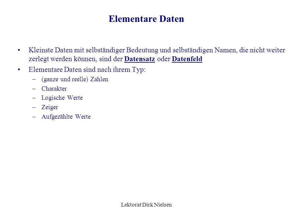 Elementare Daten