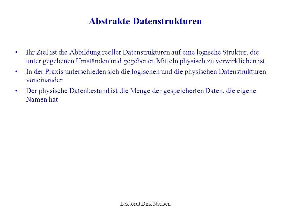 Abstrakte Datenstrukturen