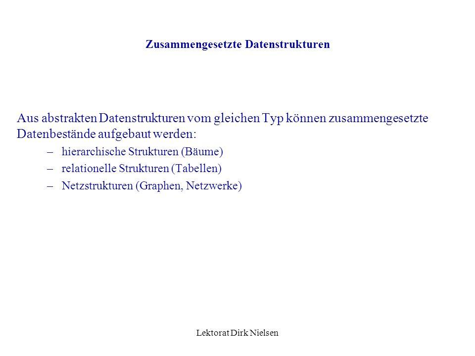 Zusammengesetzte Datenstrukturen