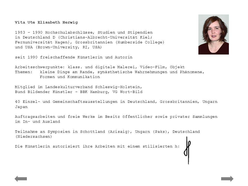 Ute Elisabeth Herwig – Vita