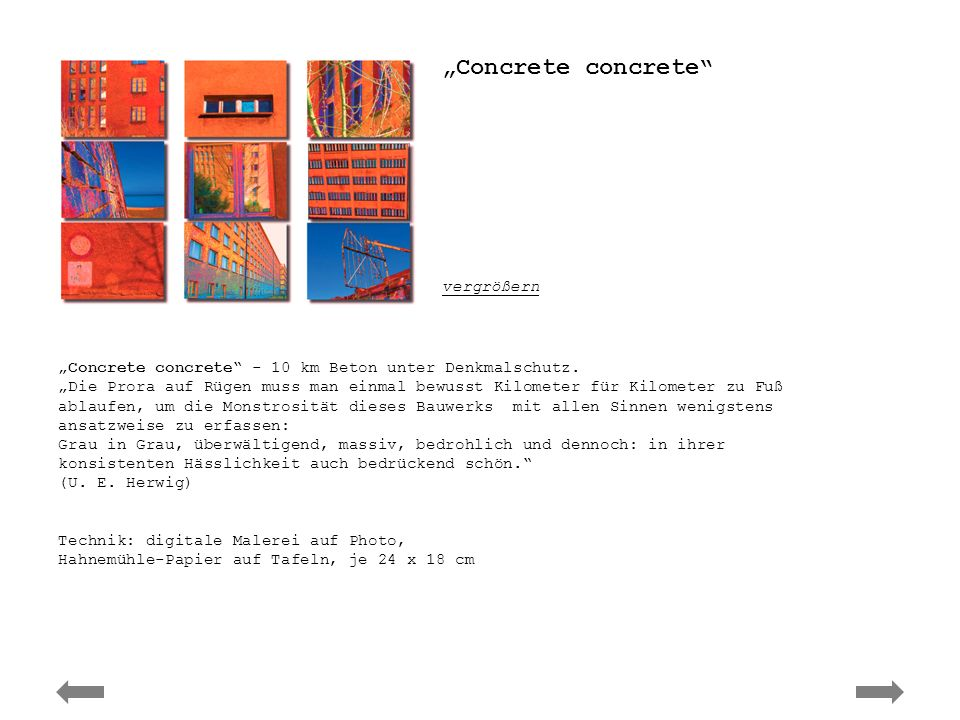 Ute Elisabeth Herwig – concrete concrete