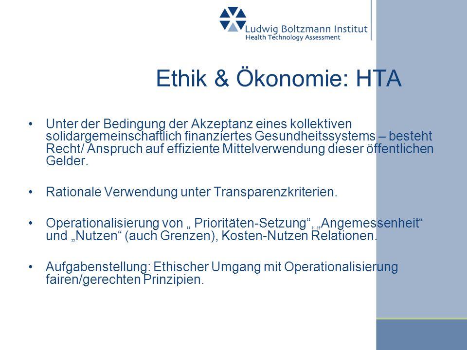 Ethik & Ökonomie: HTA