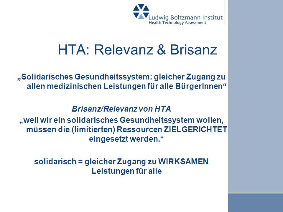HTA: Relevanz & Brisanz