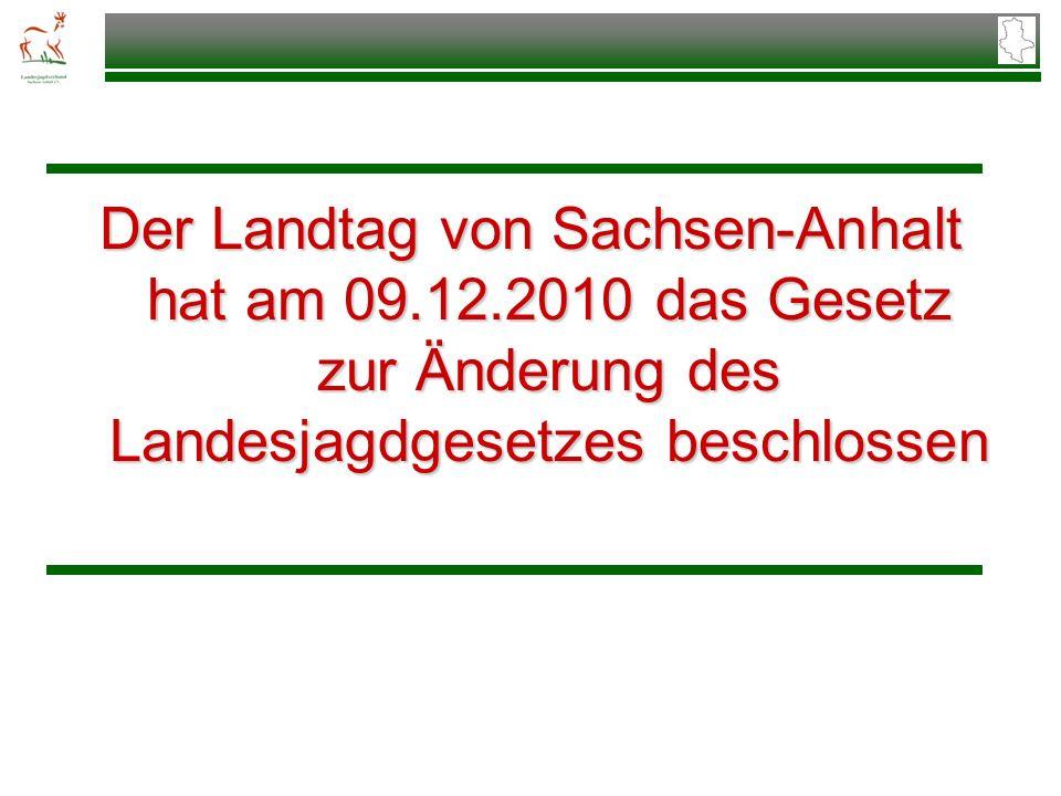 Der Landtag von Sachsen-Anhalt hat am 09. 12