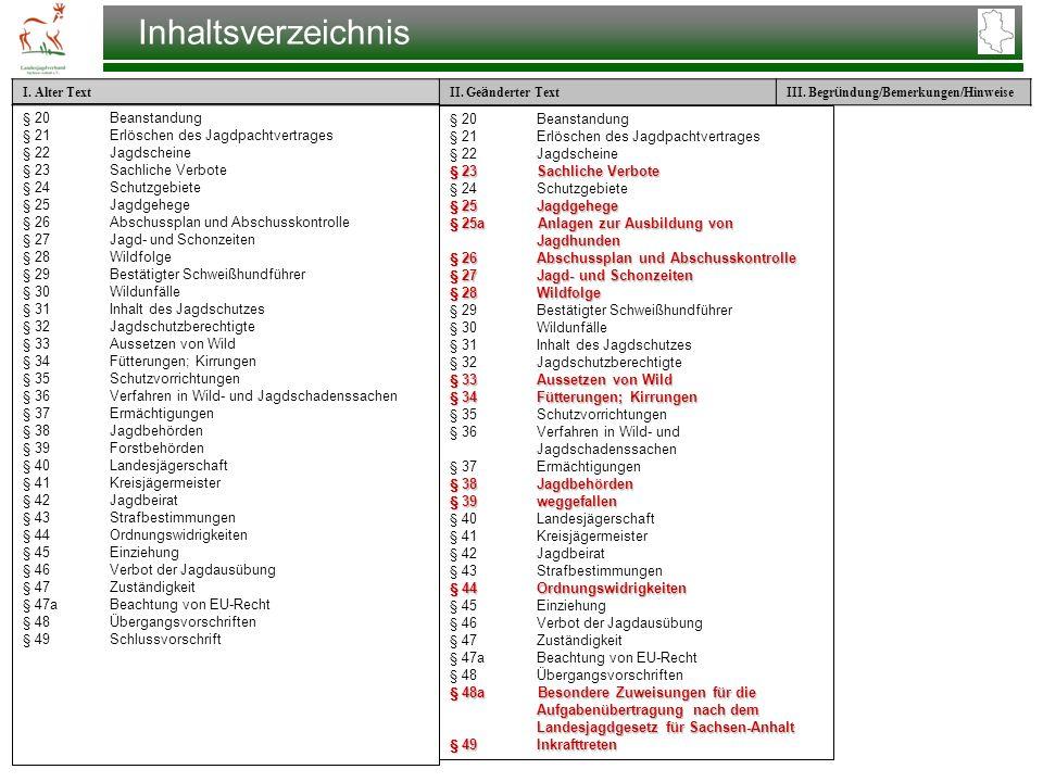 Inhaltsverzeichnis § 20 Beanstandung § 20 Beanstandung