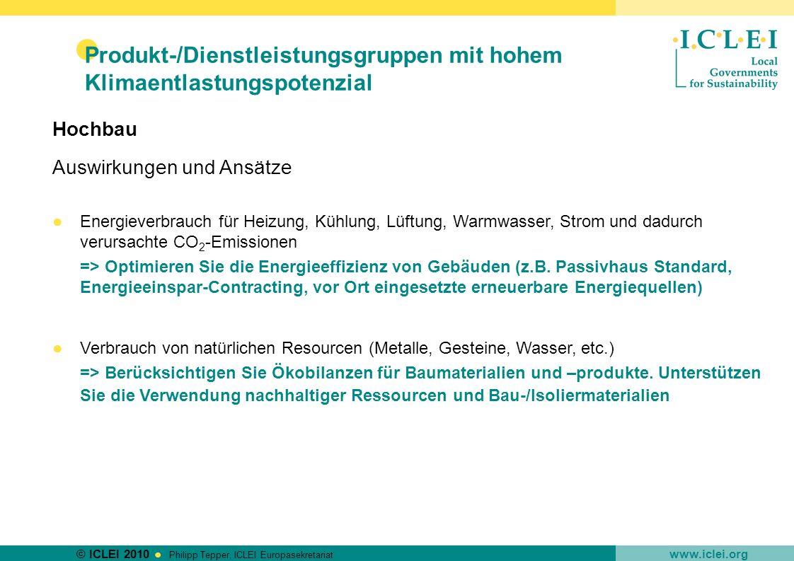 Produkt-/Dienstleistungsgruppen mit hohem Klimaentlastungspotenzial