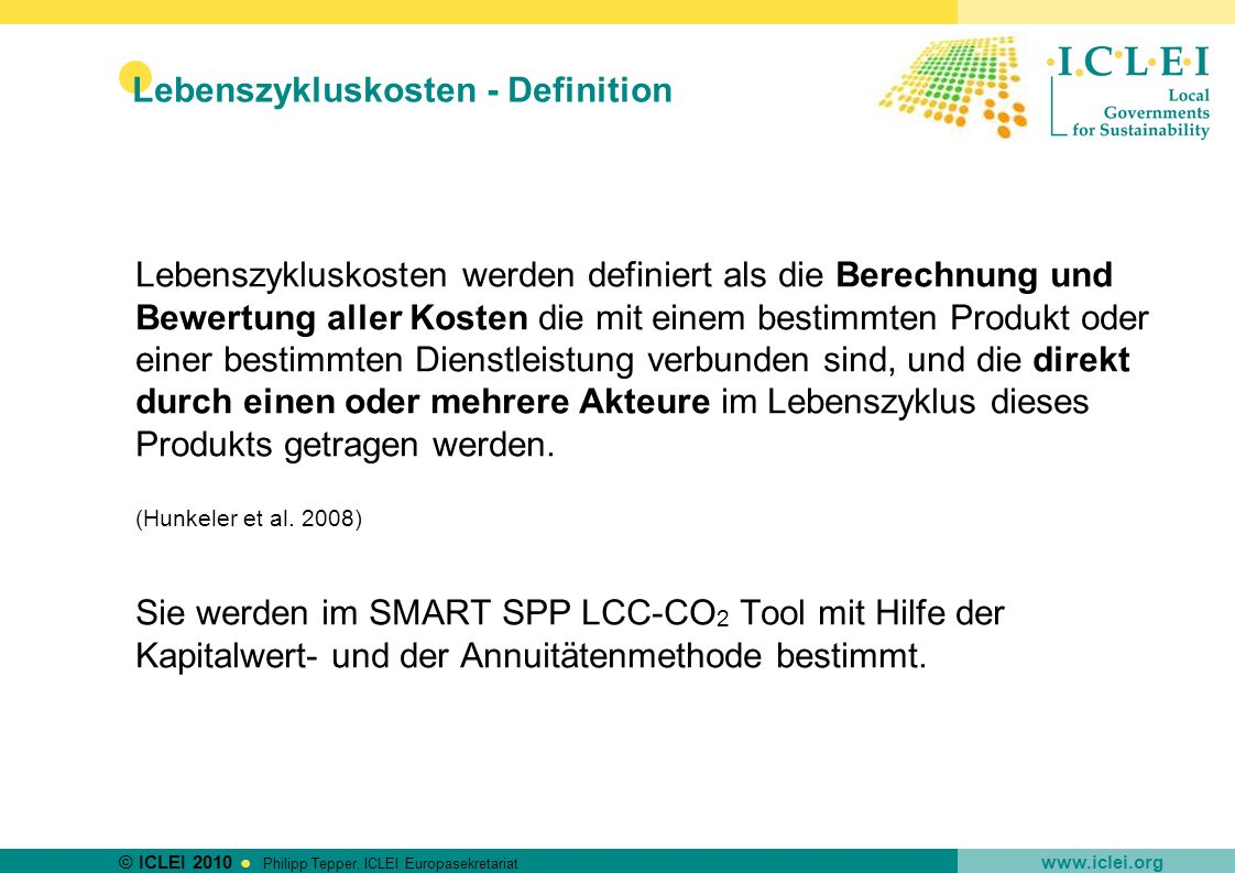 Lebenszykluskosten - Definition