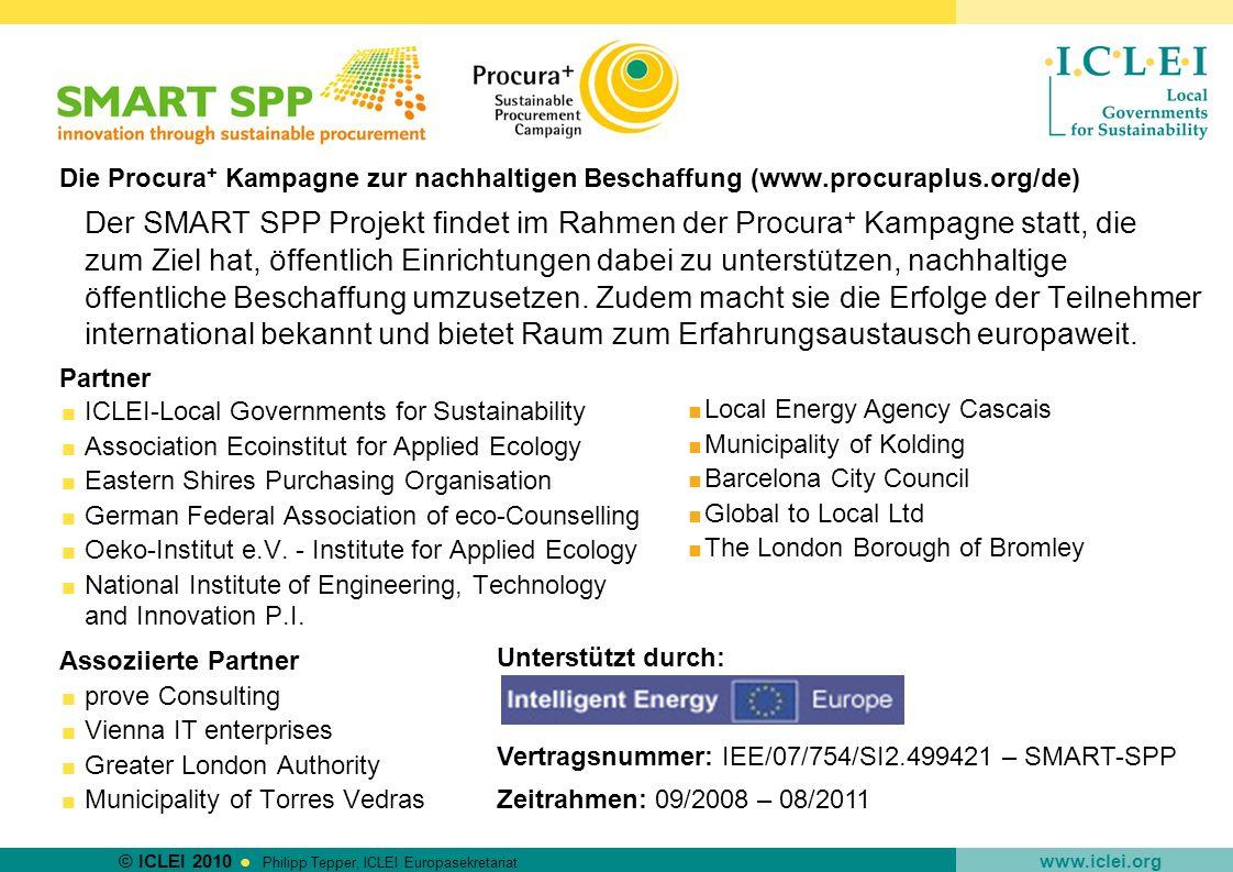 Die Procura+ Kampagne zur nachhaltigen Beschaffung (www. procuraplus