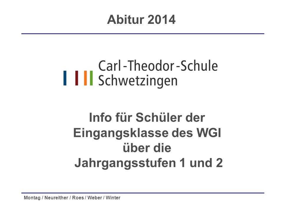 Info für Schüler der Eingangsklasse des WGI