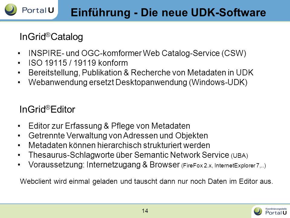Einführung - Die neue UDK-Software